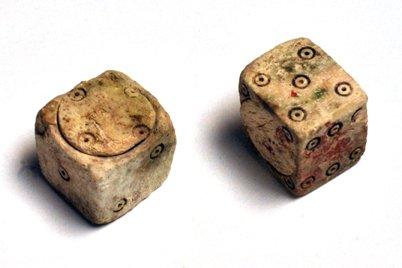 Dadi da gioco provenienti da Pompei