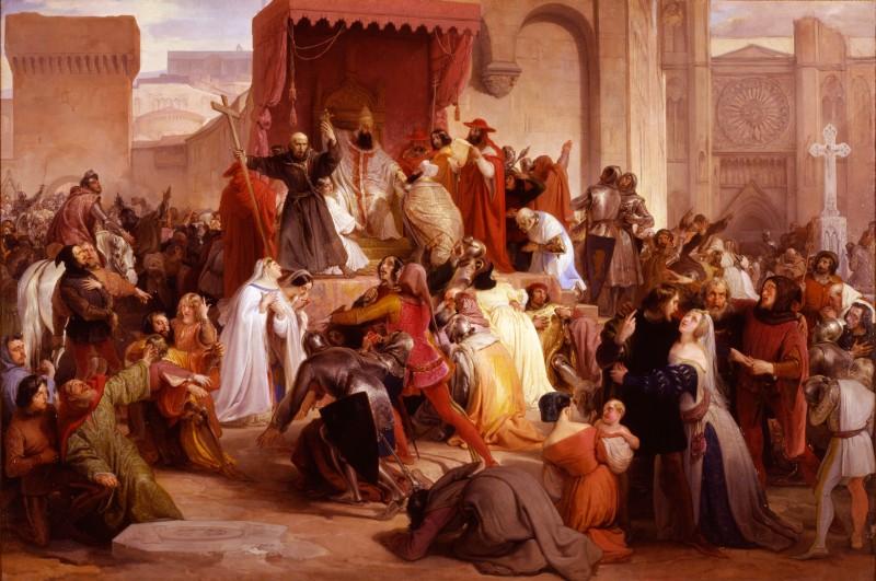Urbano II appello al sinodo di Clermont prima crociata