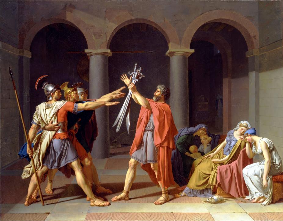 Jacques-Louis David Il Giuramento degli Orazi