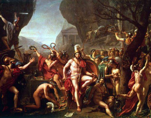 Leonida alle Termopili Jacques-Louis David