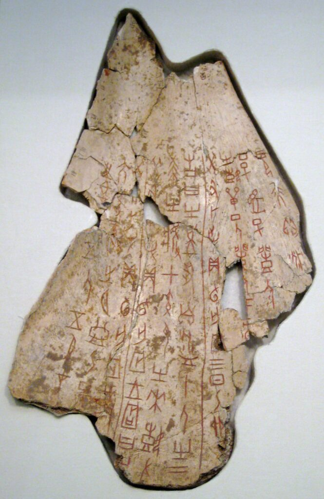 scrittura cinese - osso oracolare