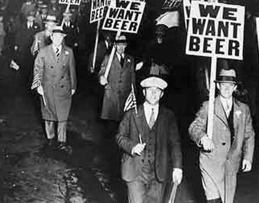Proibizionismo americano: immagini di protesta