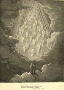 Pier Damiani sulla scala dorata visto da Dante